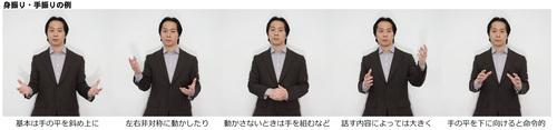 日経MJ掲載 身振り手振り ジェスチャー
