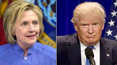 トランプとクリントンの大統領選