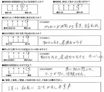 富士薬品研修「劇的なプレゼン」受講者